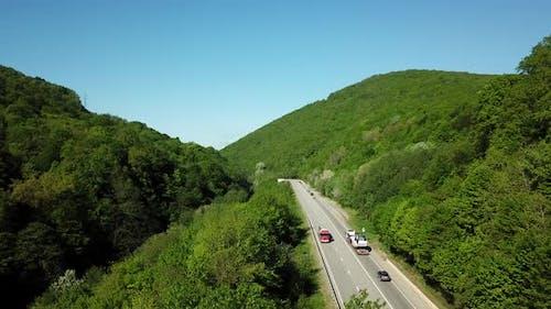 Mountain Winding Zig Zag Road