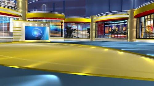 Virtual News Studio Set Background 310