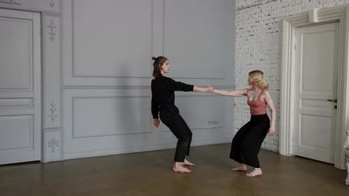 Contemporary Dance of Young Couple of Dancers Sensuality and Passion Young Man and Woman