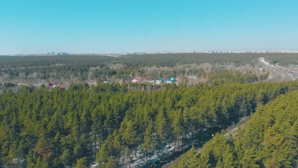 Cover Image for Winding Roads and Pine Forests Surround Cottage Village