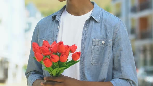 Thumbnail for Worried Boy Holding Flowers, Looking Out for Girlfriend Late for Date, Breakup