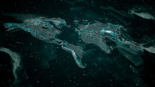 Glowing Textured Global Map 4K