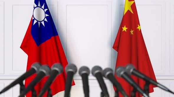 Thumbnail for Flags of Taiwan and China at Meeting