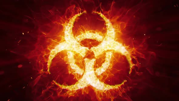 Cover Image for Biohazard Sign Fire Loop