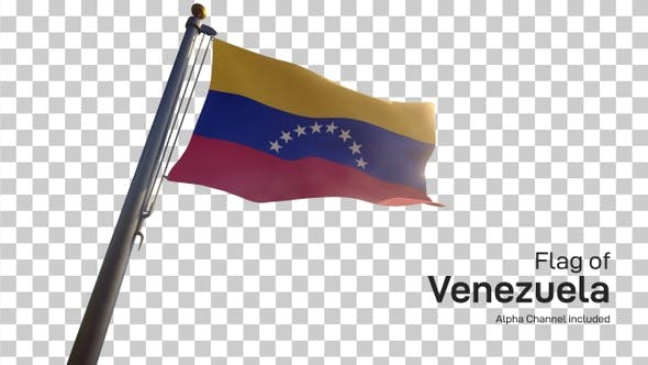 Thumbnail for Venezuela Flag on a Flagpole with Alpha-Channel