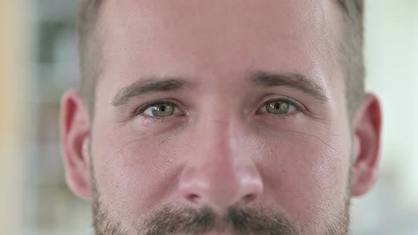 Thumbnail for Close Up of Blinking Eyes of Young Man