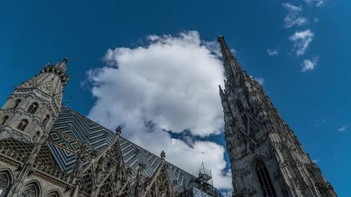 Movement of Clouds Over the Cathedral of St. Stephen in Vienna