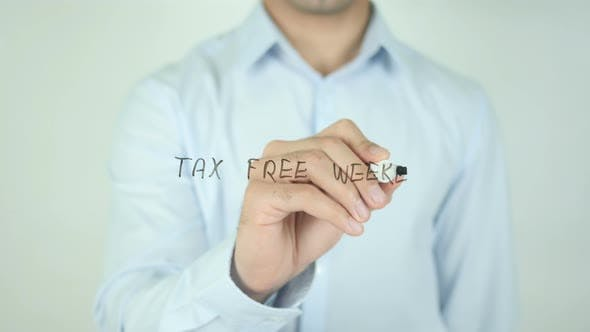 Thumbnail for Tax Free Weekend, Writing On Screen