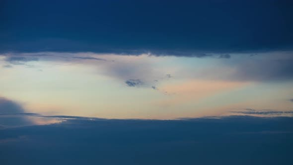 Thumbnail for Colorful Clouds Moving Fast in Time-lapse. Idyllic Cloudy Heaven Background. Timelapse of Beautiful
