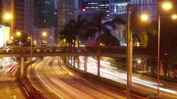 Traffic Hong Kong Time Lapse