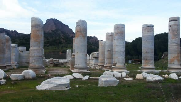 Thumbnail for Temple Of Artemis At Sardes Lydia Ancient Historical City In Salihli Manisa Turkey 7