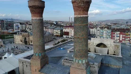 Cover Image for Mosque And Minaret Aerial View