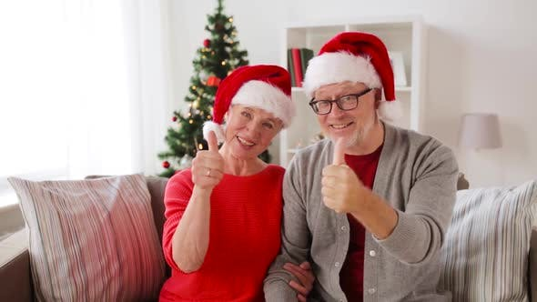 Thumbnail for Senior Couple Recording Christmas Video Greeting 66