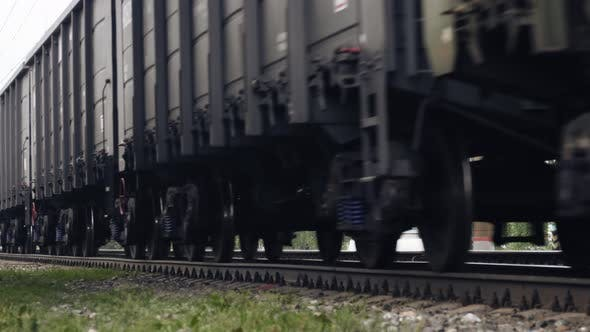 Thumbnail for Freight train wheels passing by