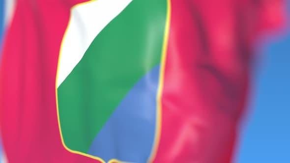 Thumbnail for Waving Flag of Abruzzo a Region of Italy