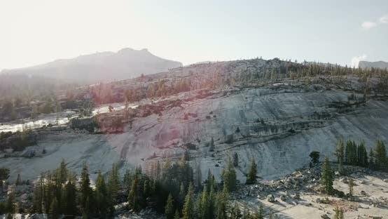 Thumbnail for White Stone Rock Mountain Skyline in Sunny Summer Yosemite