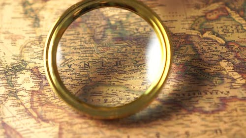 Look Through a Magnifying Glass at the Map