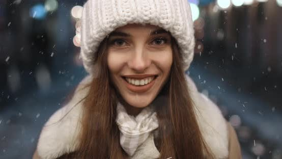 Thumbnail for Portrait of Smiling Girl at Night