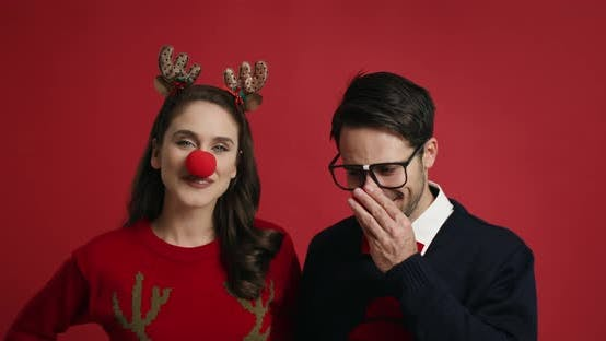 Thumbnail for Shy man and his girlfriend at Christmas