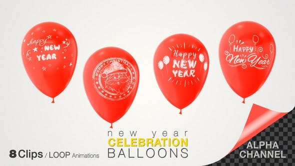 Thumbnail for New Year Celebration Balloons
