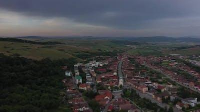 Rustic Town Between The Hills