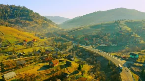 Aerial View on Non Urban Scene