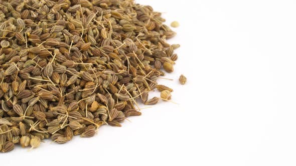 Thumbnail for Half View of a Circle Shaped Anise Seeds Heap