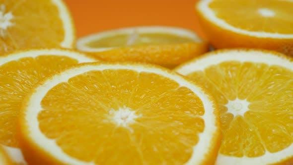 Thumbnail for Fresh Orange Sliced Fruit Rotates