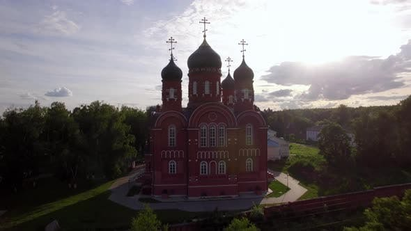 Thumbnail for Ascension Cathedral and Holy Cross Monastery in Green Countryside, Russia
