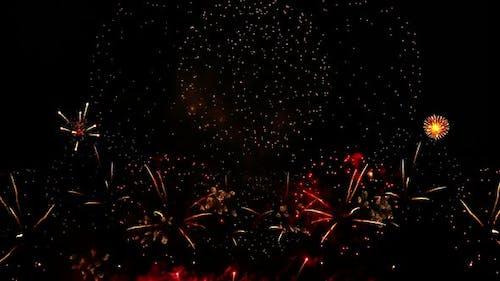 Fireworks Flow Realistick in Black Sky
