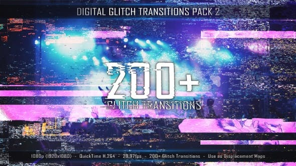 Thumbnail for Digital Glitch Transitions Pack 2