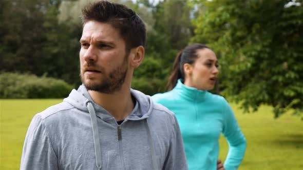 Thumbnail for Runners After Exercising. Epic Look at Camera.