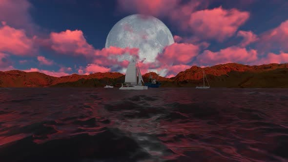 Cover Image for Full moon while sailing
