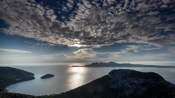 cap formentor sunrise coast sea mallorca water