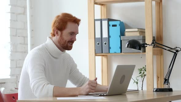 Cover Image for Video Chat by Handsome Man with Red Hairs