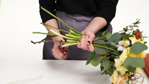 Thumbnail for Florales Design. Blumenkunst. Weiß. Nahaufnahme