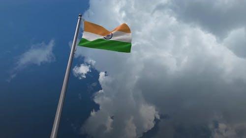 India Flag Waving 4K