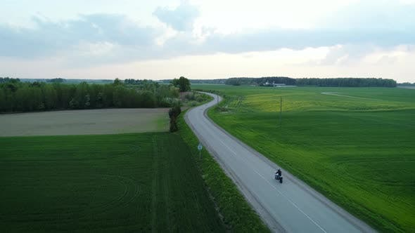Thumbnail for Motorcycle On Countryside Road