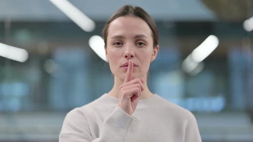 Silence Please, Finger on Lips
