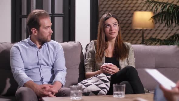 Thumbnail for Couple Arguing During Meeting with Psychologist