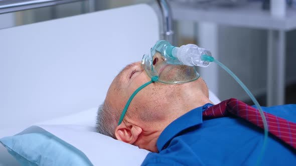 Thumbnail for Sick Old Man in Respiratory Mask