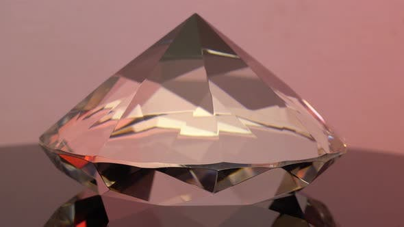 Thumbnail for Side View of a Sparkling Pink Diamond with Round Embossed