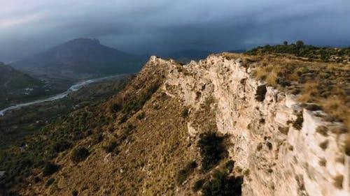 Mountain Near a Dry River
