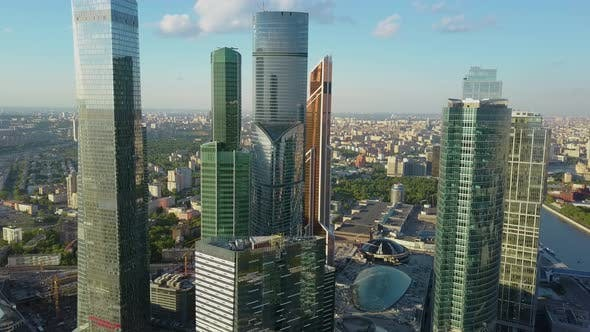 Thumbnail for Several Futuristic Glass Skyscrapers