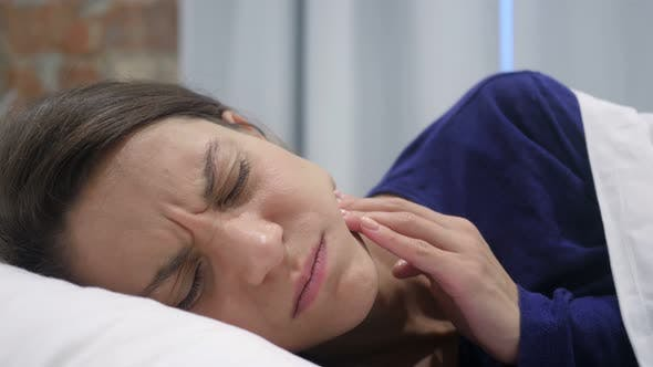 Thumbnail for Sleeping Woman Suffering Teeth Pain, Toothache