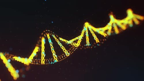 Biological Background with DNA Strand