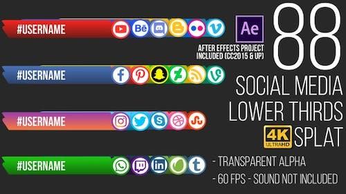 Social Media Lower Thirds Splat 4K (Video)