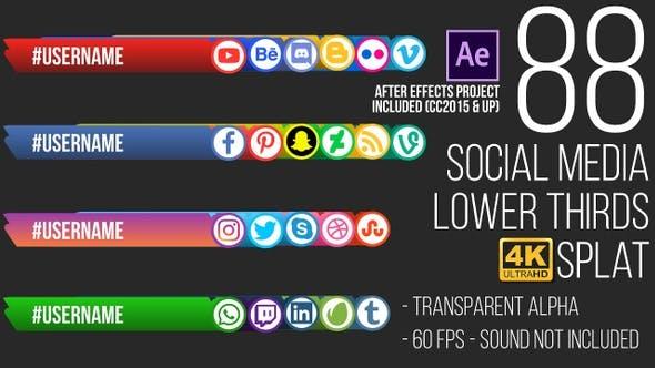 Thumbnail for Social Media Lower Thirds Splat 4K (Video)
