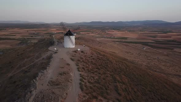 Thumbnail for Windmills on Hill at Sunset in Consuegra, Mancha, Spain