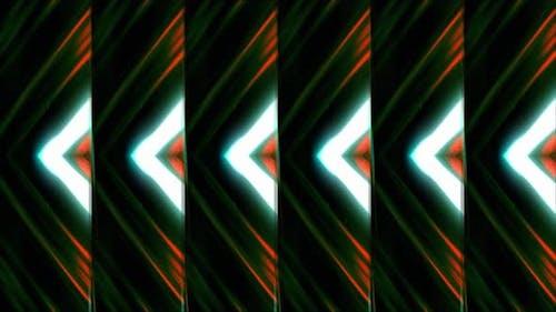 Triangular pattern with neon flickers
